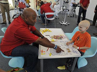Umpires visit Johns Hopkins Children's Center