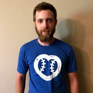 Men's Royal Blue T-Shirt With White Heart Logo