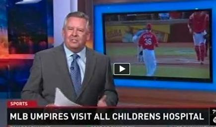 MLB Umpires Visit All Children's Hospital