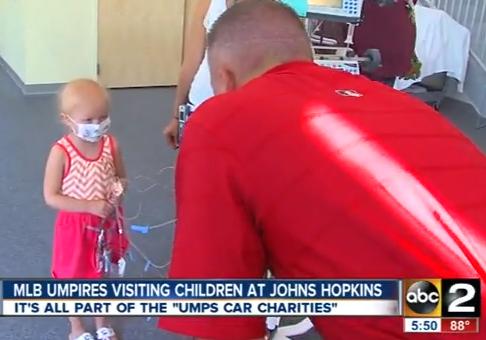 MLB Umpires visit Johns Hopkins Children's Center