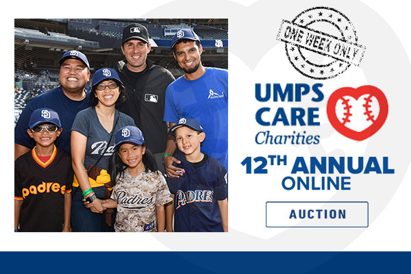 UMPS CARE Charities 12th Annual Online Auction – Hosted on MLB.com – Is Open NOW! Get your bids in!